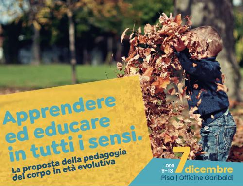 """A Pisa il seminario a cura del prof. Gamelli """"Apprendere ed educare in tutti i sensi"""""""